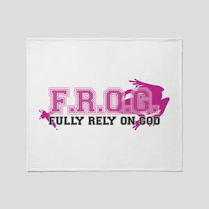 FROG pink Throw Blanket