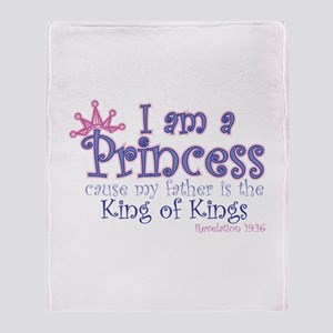 I am a Princess Throw Blanket