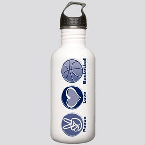 Peace Love Basketball Stainless Water Bottle 1.0L