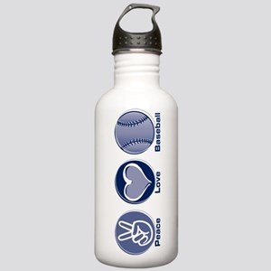 Peace Love Baseball Stainless Water Bottle 1.0L