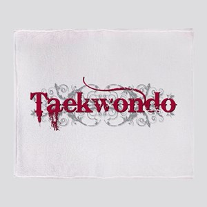 Taekwondo Red Throw Blanket