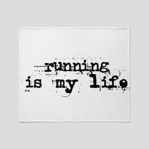 Running is my life Throw Blanket