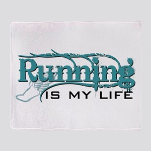 Running is my life bc Throw Blanket
