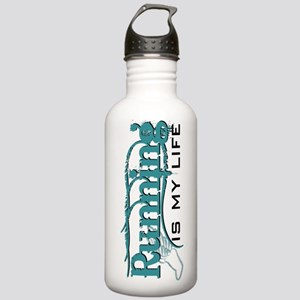 Running is my life bc Stainless Water Bottle 1.0L