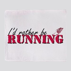 Rather be running Throw Blanket