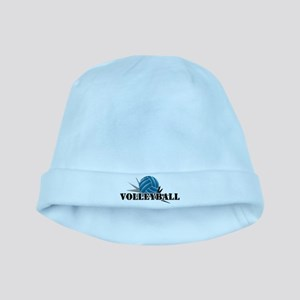 Volleyball starbust blue baby hat