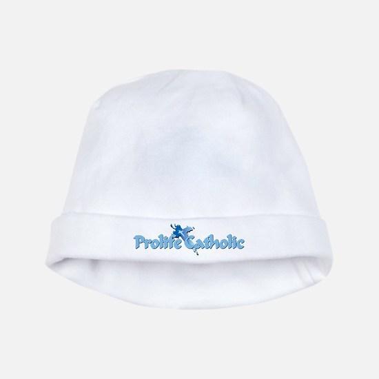 Prolife Catholic Cross baby hat