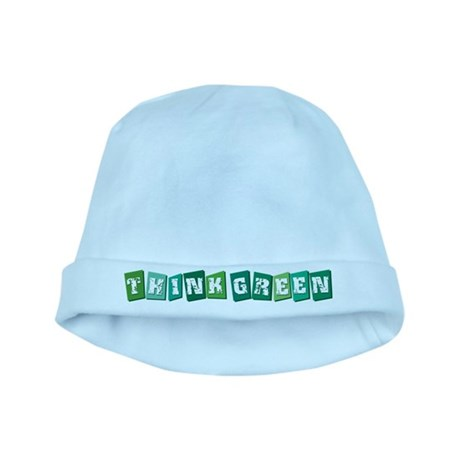 Think Green (block) baby hat