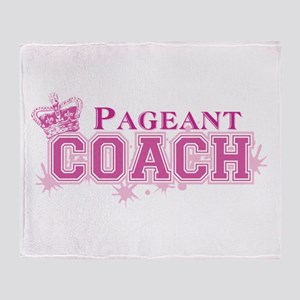 Pageant Coach Throw Blanket