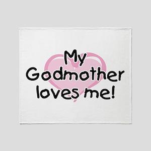 My Godmother loves me pk Throw Blanket