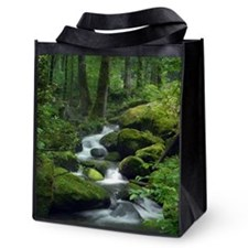 Summer Forest Brook Reusable Grocery Tote Bag