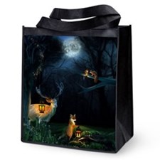 Magic Forest Wildlife Reusable Grocery Tote Bag