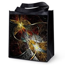 Colorful Fractal Reusable Grocery Tote Bag