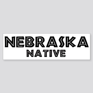 Nebraska Native Bumper Sticker