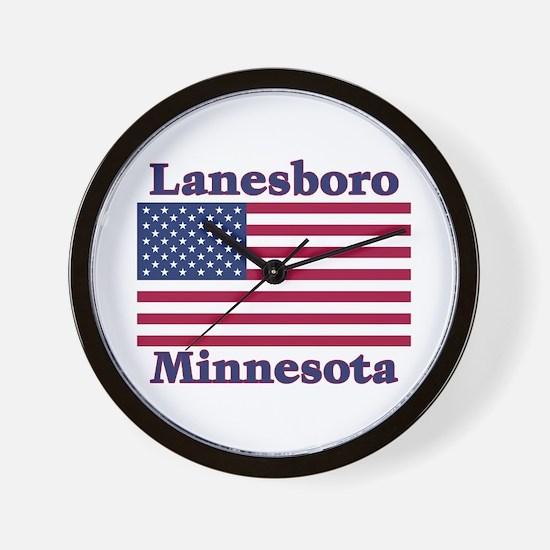 Lanesboro US Flag Wall Clock
