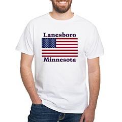 Lanesboro US Flag White T-Shirt