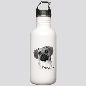 Perfect Puggle Portrait Stainless Water Bottle 1.0