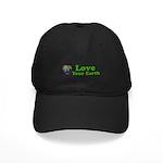 Love Your Earth Heart Black Cap