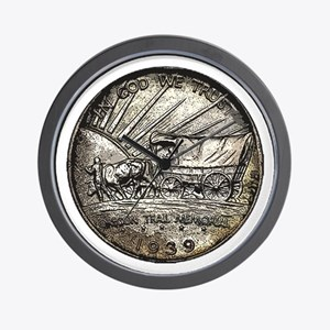 Oregon Trail Reverse Wall Clock