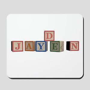 Jayden Alphabet Block Mousepad