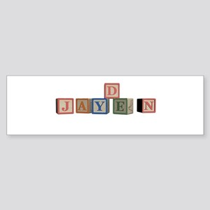 Jayden Alphabet Block Sticker (Bumper)