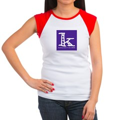Knittylove [purple] Women's Cap Sleeve T-Shirt