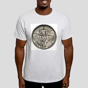 Oregon Trail Double-Sided Ash Grey T-Shirt