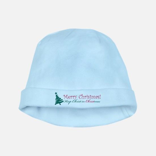 Merry Christmas tree baby hat