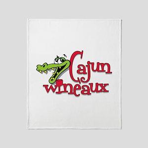 Cajun Wineaux gator Throw Blanket