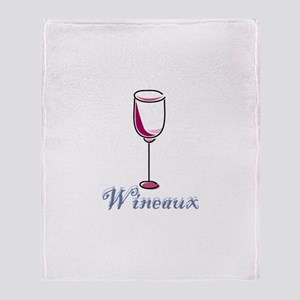 Wineaux Throw Blanket