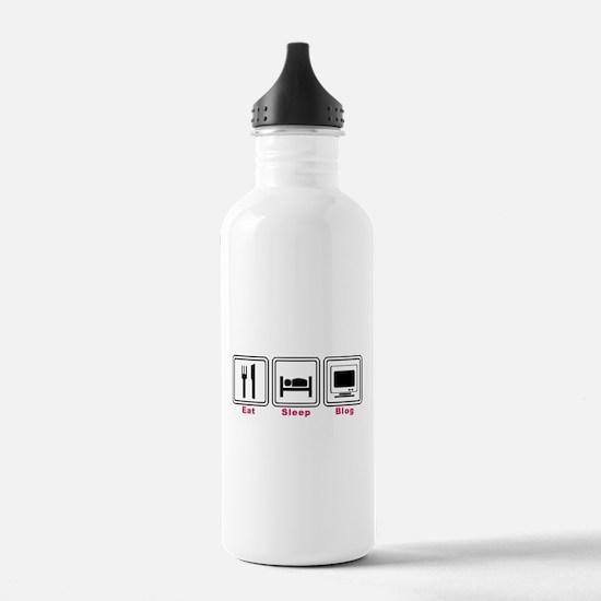 Eat Sleep Blog Water Bottle