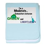 I'm A Moderate baby blanket