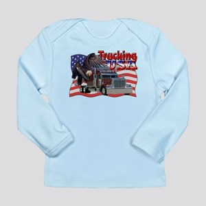 Trucking USA Long Sleeve Infant T-Shirt