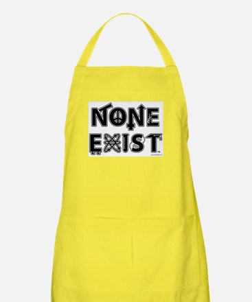 None Exist Apron (stacked logo)