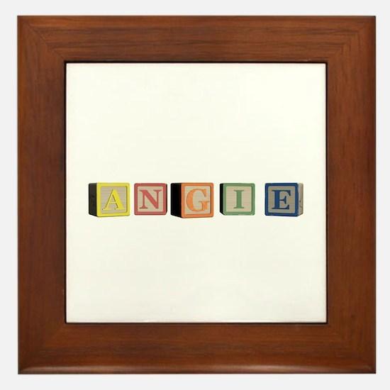 Angie Alphabet Block Framed Tile