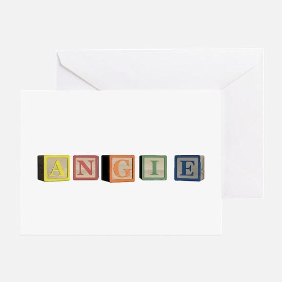 Angie Alphabet Block Greeting Card