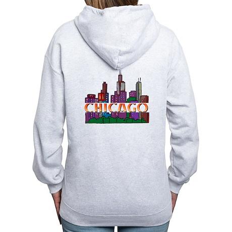 Chicago Skyline Women's Zip Hoodie