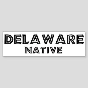 Delaware Native Bumper Sticker