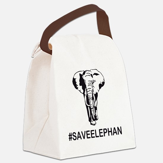 Unique Elephant and castle Canvas Lunch Bag