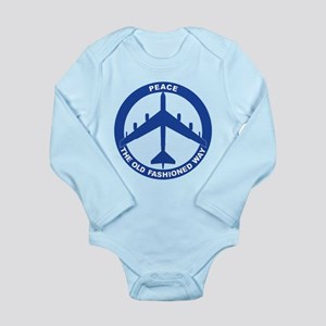 B-52G Peace Sign Long Sleeve Infant Bodysuit