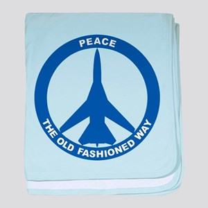 FB-111A Peace Sign baby blanket