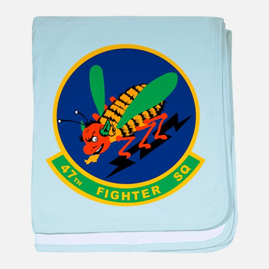 47th Fighter Squadron baby blanket