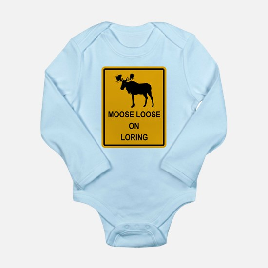 Moose Loose Long Sleeve Infant Bodysuit