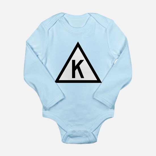 Triangle K Long Sleeve Infant Bodysuit