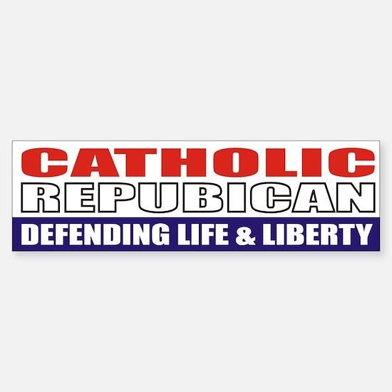 Catholic Republican Bumpersticker (10x3)