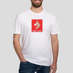 Great Dane Mug Fitted T-Shirt