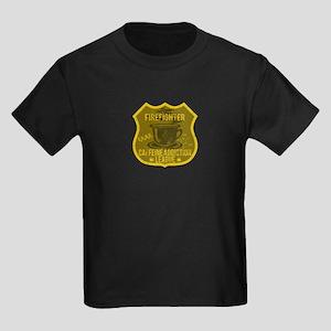 Firefighter Caffeine Addiction Kids Dark T-Shirt