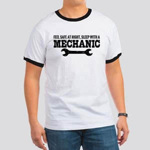 Feel Safe With A Mechanic Ringer T