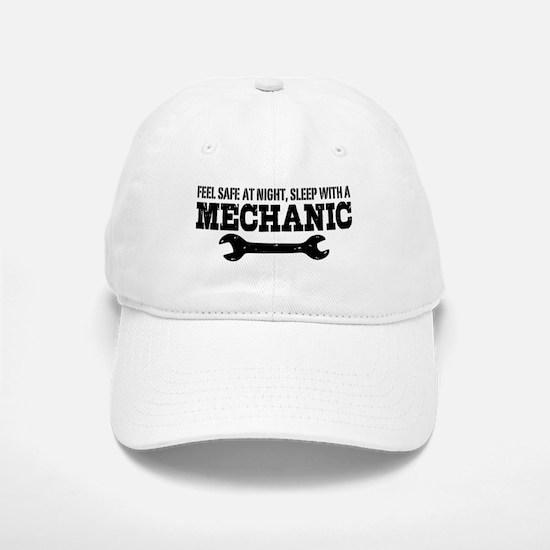 Feel Safe With A Mechanic Baseball Baseball Cap
