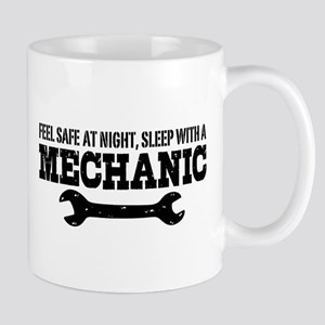 Feel Safe With A Mechanic Mug